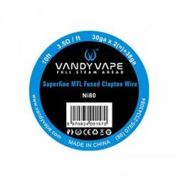 Vandyvape Superfine MTL Fused Clapton Vape Wires Ni80 30GA*2+38GA