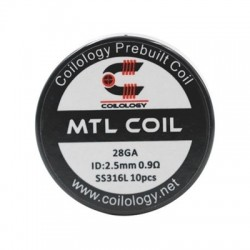 Coilology MTL SS316L 0.9ohm 10бр