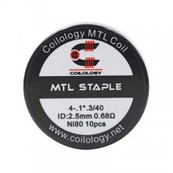 Coilology MTL Staple Coil Ni80 0.68ohm 10бр