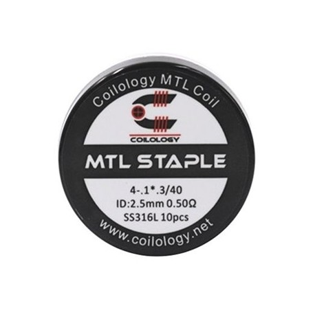 Coilology MTL Staple Coil SS316L 0.5ohm 10бр