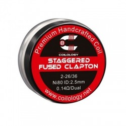 Coilology Staggered Fused Clapton Coil Ni80 0.14ohm