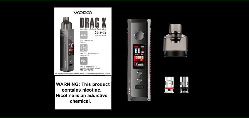 вейп шоп VOOPOO DRAG X 18650 Mod Pod Kit