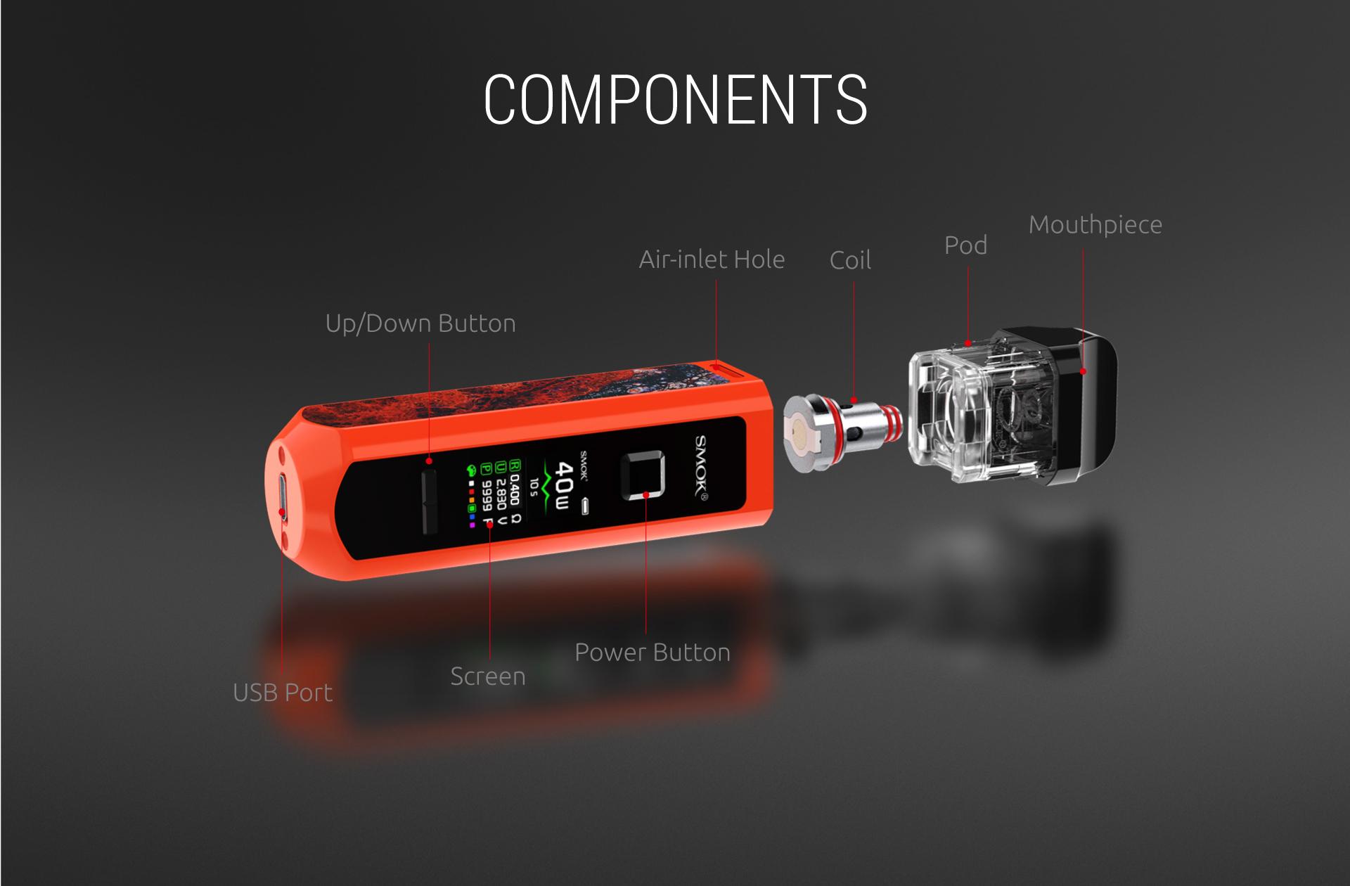 вейп комплект SMOK RPM 40 Pod Kit