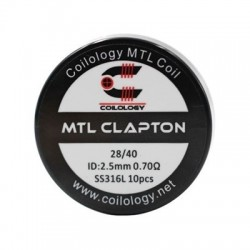 Coilology MTL Clapton SS316L 0.7ohm 10бр